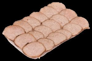 Grillworst met blokjes ham en kaas